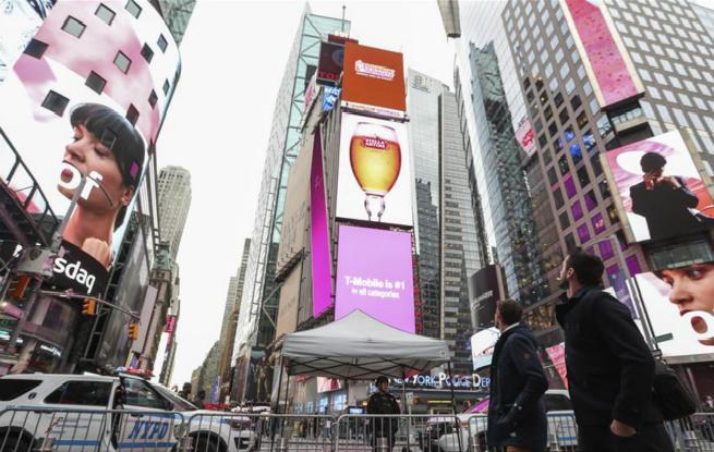 美国纽约时报广场加强安保措施